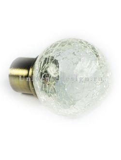 Наконечник 16 мм Стеклянный шар латунь 2 штуки