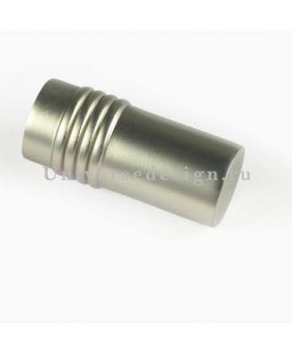 Наконечник 16 мм Цилиндр дорический матовый хром 2 штуки