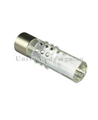 Наконечник 19 мм Цилиндр стеклянный матовый  хром 2 штуки
