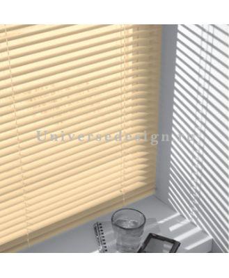 Жалюзи. Пластиковые шторы горизонтальные. Цвет бежевый